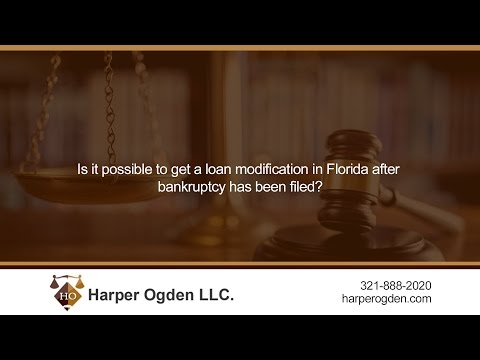Is it possible to get a loan modification in Florida after bankruptcy has been filed?
