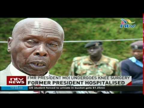 Former President Moi undergoes knee surgery thumbnail