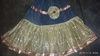 How to make baby frock from old clothes at home