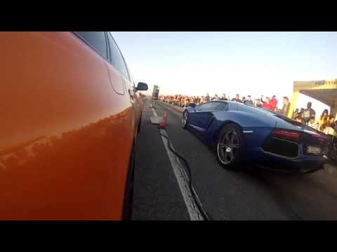 Lamborghini Aventador vs Bulgarian Audi RS6 Madness Motorsport 900hp, Drag Race Jucu