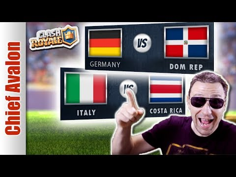MGL WORLDS: GERMANY vs DOMINICAN REPUBLIC | ITALY vs COSTA RICA - Clash Royale eSports