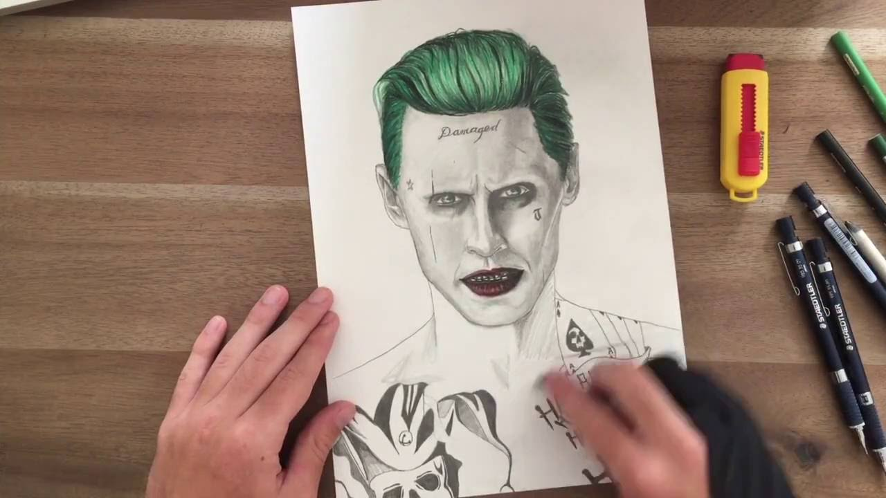 Joker--SUICIDE SQUAD--Speed Drawing