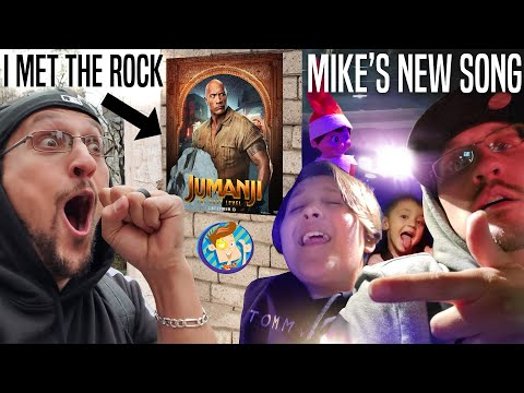 Meeting THE ROCK From JUMANJI MOVIE In NYC + Mike's NEW Song 🎵 (FV Family Music Video Elf Vlog)