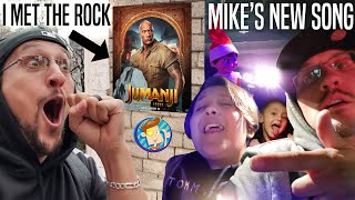 Meeting THE ROCK from JUMANJI MOVIE in NYC + Mike's NEW Song