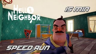 Hello Neighbor | BETA 3 SPEED RUN 15 MİN [Türkçe] #74