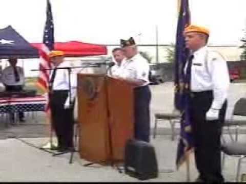 Flag US retirement ceremomy - American Legion Post 223, Killeen, Texas