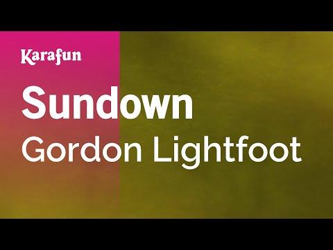 Karaoke Sundown - Gordon Lightfoot *