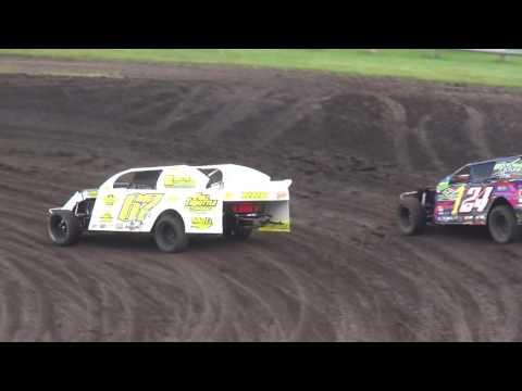 IMCA Sport Mod Heats Benton County Speedway 8/28/16