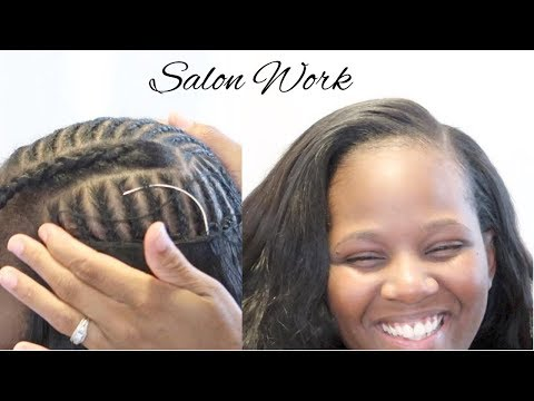 BRAIDING PATTERN FOR A SIDE PART SEW IN