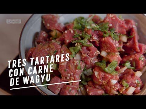 EL COMIDISTA   Tres steak tartares con carne de Wagyu
