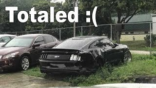 The 2015 FBO Mustang GT is Totaled