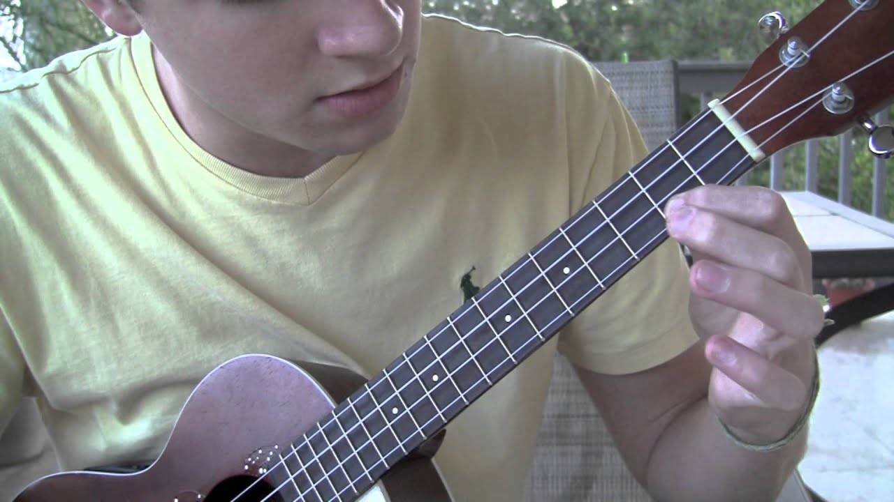 Kid Cudi Pursuit Of Happiness Ukulele Tutorial Solo Included Youtube