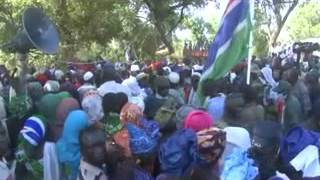 President Jammeh's first tour of Vision 2016 rice farms in CRR - Day 2