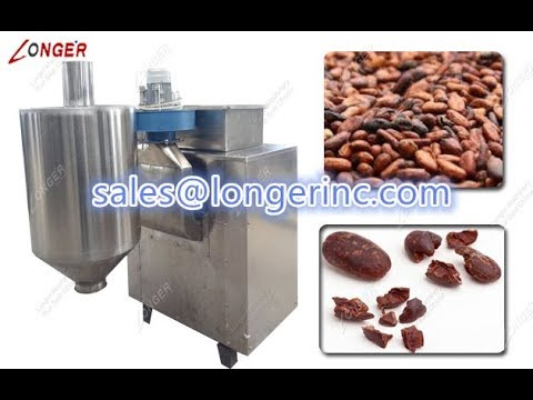 Cocoa Beans Peeling And Grinding Machine|Automatic Cocoa Beans Processing Machine