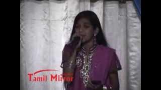 Magisha Baheerathan singing at the Tamil Mirror Gala Night 2012.