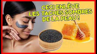 Avantages du miel brut et de la poudre de charbon  pour enlever la peau sombre