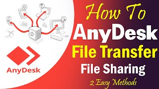 AnyDesk File Transfer and  File Sharing *2 Easy Methods || Anydesk Tutorial Part-02 screenshot 4