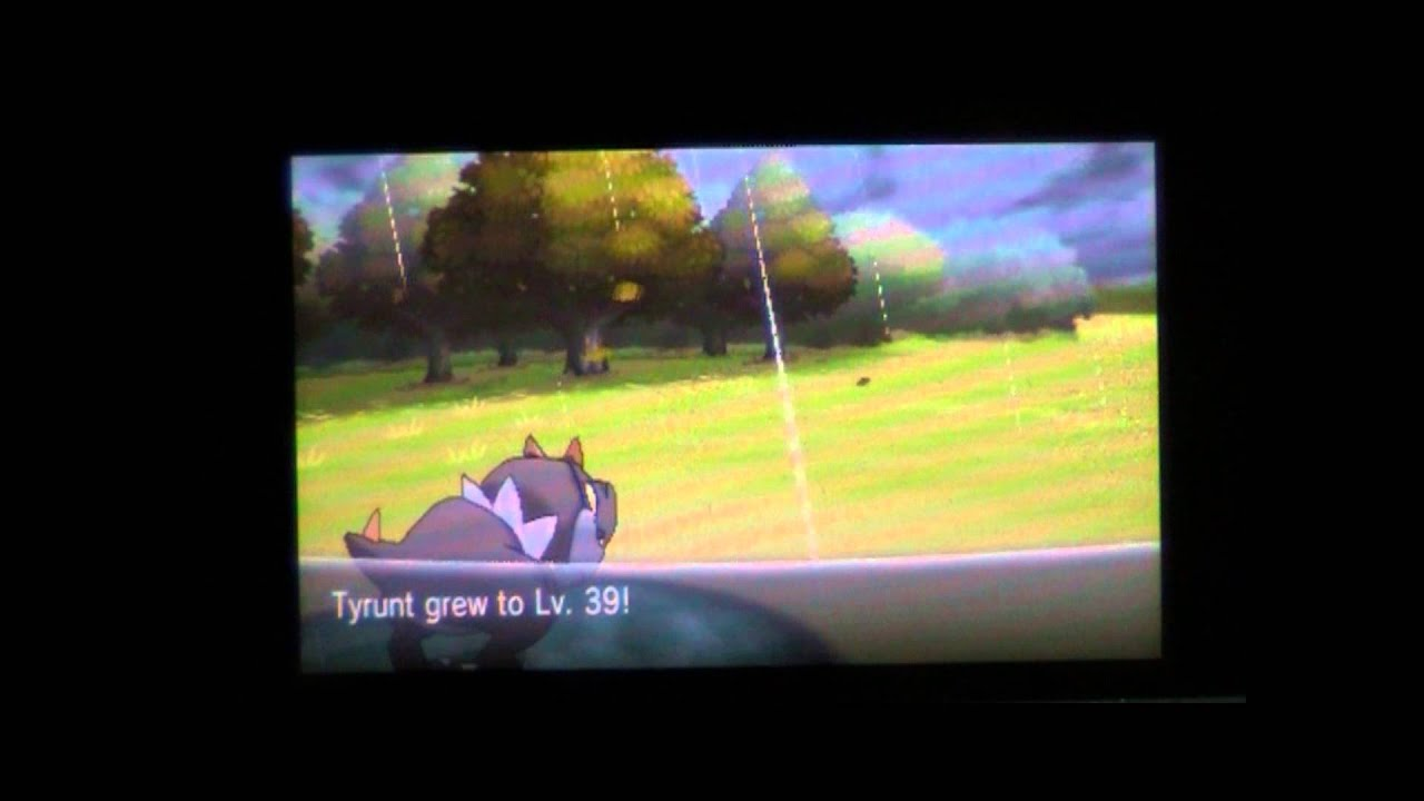 what level does tyrunt evolve in pokemon x