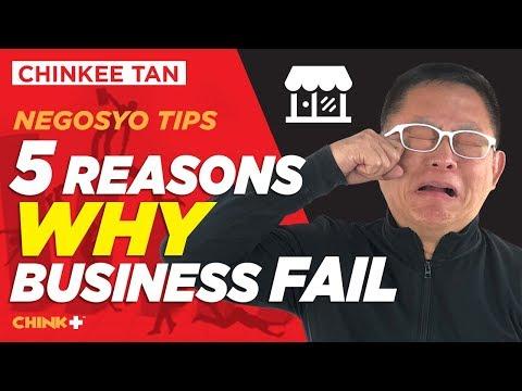 Negosyo Tips: 5 Reasons Why BUSINESS fail