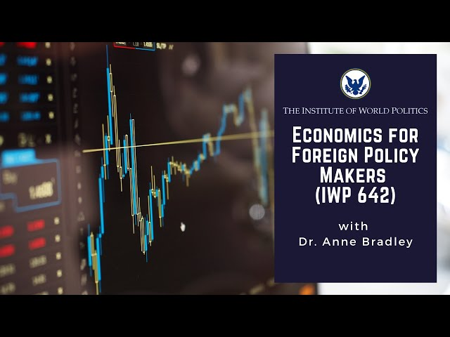 Economics for Foreign Policy Makers (IWP 642)