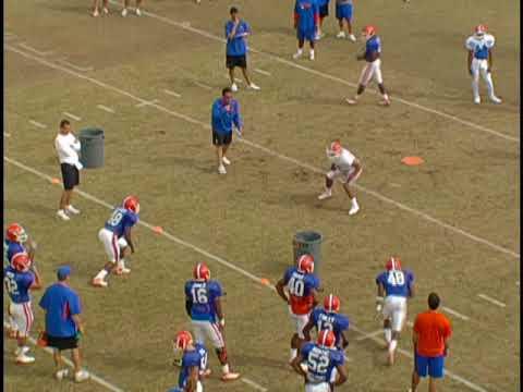University of Florida Football Drills - Receivers