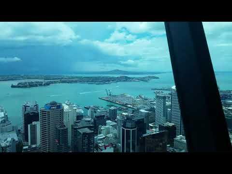 Timelapse from Orbit Revolving Restaurant, Sky Tower, Auckland