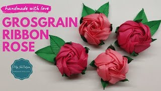 I have used Grosgrain Ribbon to make these gorgeous roses. These ar...