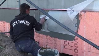 видео Утепление цоколя экструдированным пенополистиролом снаружи