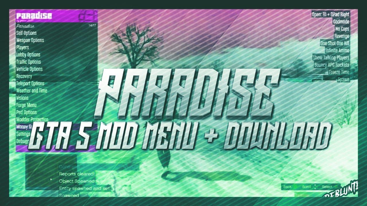 GTA 5 Online - Paradise Mod Menu + Download! (GTA 5 MODS)