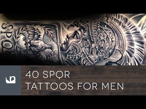 40 SPQR Tattoos For Men
