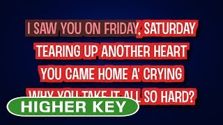 Cheating - John Newman | Karaoke Higher Key