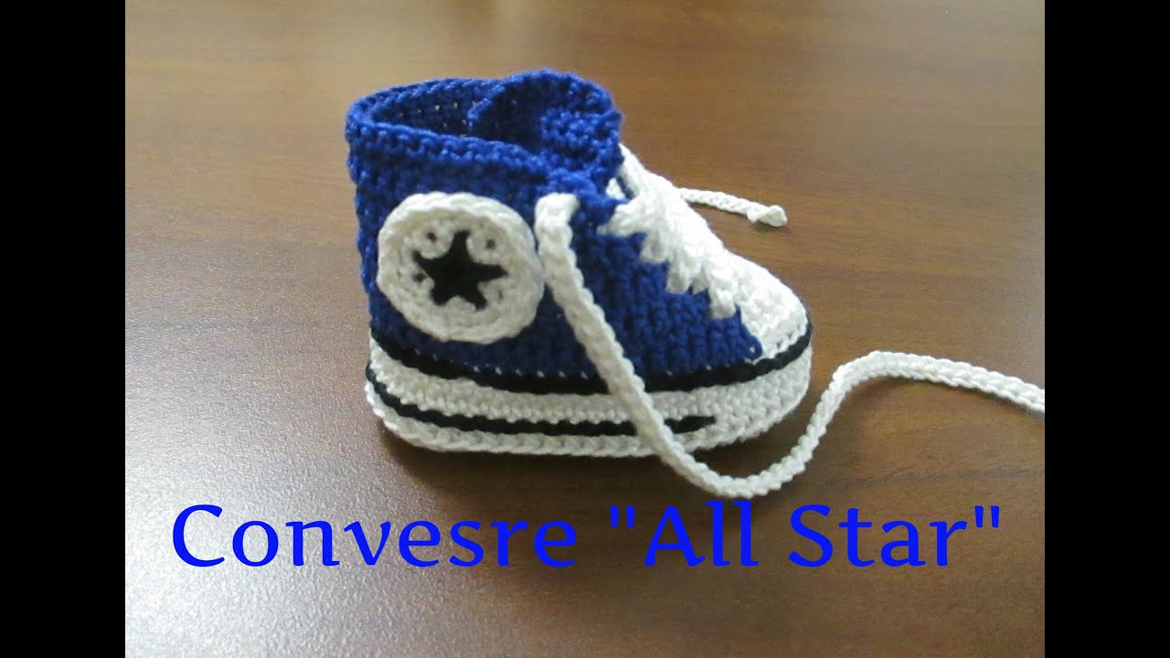 Tutorial Uncinetto Scarpine Bebe Converse All Star I Parte 1