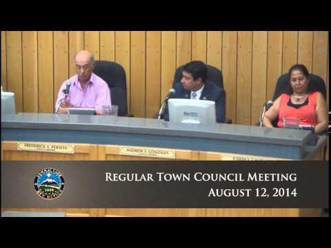 Regular Town Council Meeting - August 12, 2014