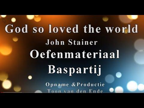 God So Loved The World Bass