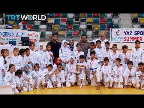 Turkey Judo: Refugees turn sport to overcome war trauma