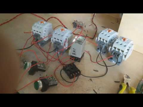 How to make auto star-delta reverse and forward circuit. Auto star-delta reverse forward circuit.
