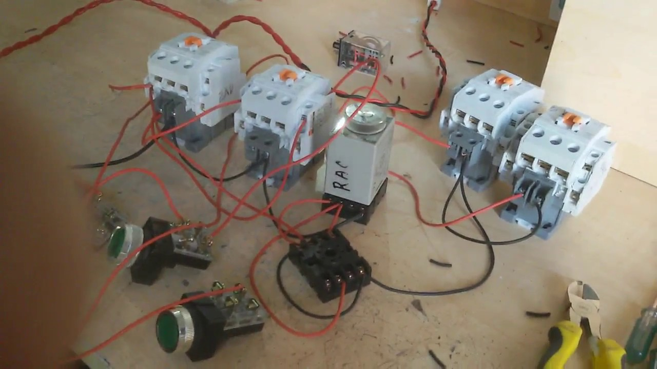 How to make auto stardelta reverse and forward circuit