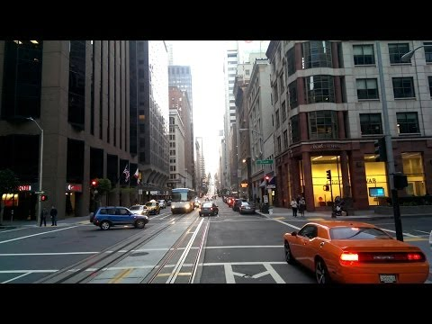 Ride on the historic San Francisco Cable Car - California Street Line SF Dec-31 2013