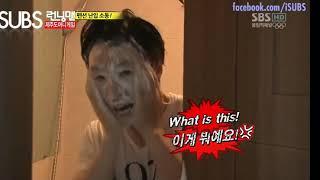 [RUNNING MAN] [ENGSUB] Invading Lee Kwang Soo and Ji Suk Jin's Shower EP105