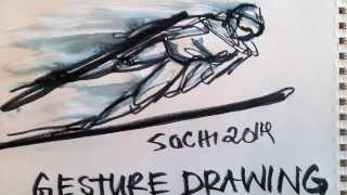 How to draw Gesture drawings - of the 2014 Sochi Olympians