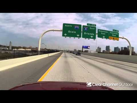 Billboard Video Ride: Digital Bulletin #29: I-275 and North Blvd