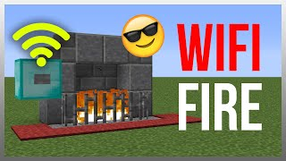 Minecraft 1.12: Redstone Tutorial - WiFi Fire Place! thumbnail