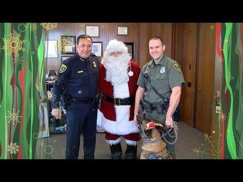 Happy Holidays Chief Acevedo and Santa | Houston Police Department