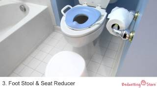 Bedwetting Store: 4-in-1 Soft Seat Toilet Trainer and Step Stool