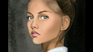 How to Draw a realistic girl drawing(ibis paint)