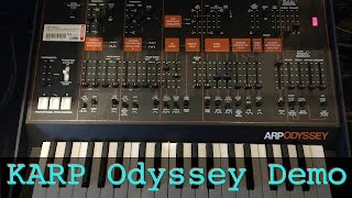 Korg Arp Odyssey raw sound demo