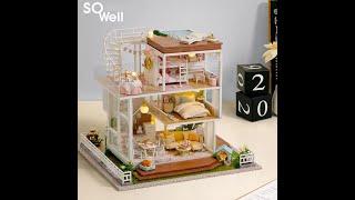 Mô hình nhà gỗ Nhà búp bê lắp ghép So Well A007