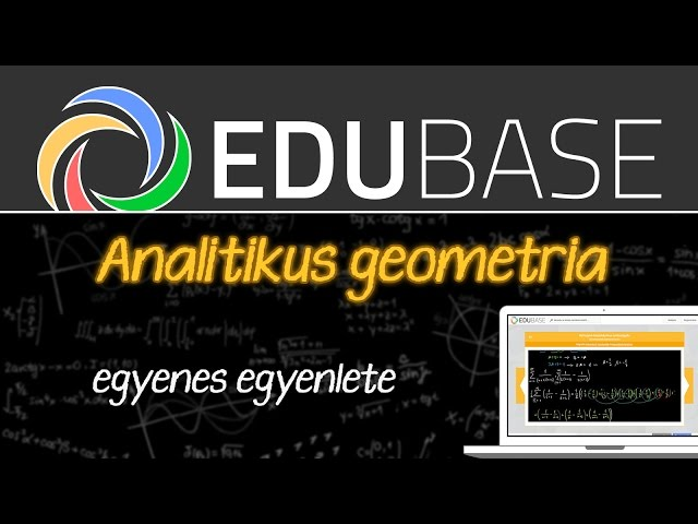 Egyenes egyenlete
