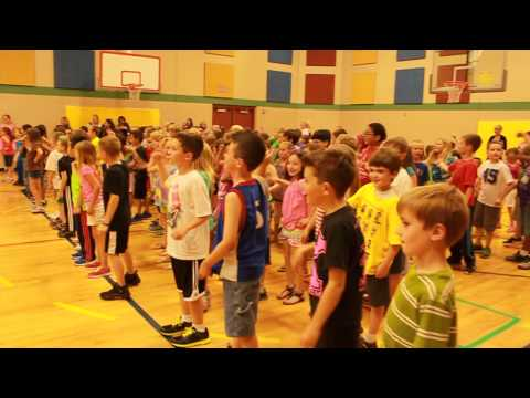 Surprise flash mob for Maize Elementary School Principal Mike Mountain