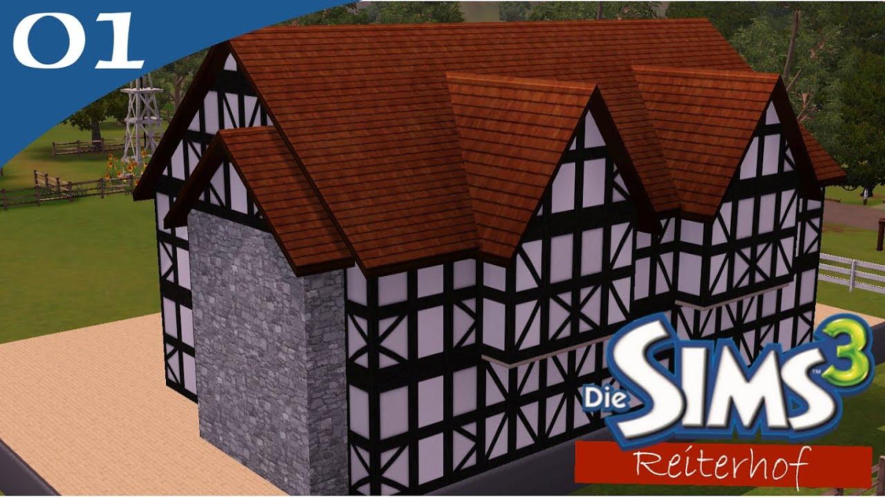 Hausbau-Reihe 2-01: Reiterhof [Let\'s Build Sims 3 Haus] - YouTube